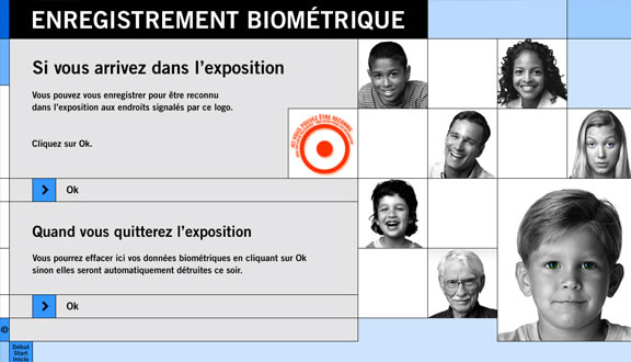 Enregistrement biométrie